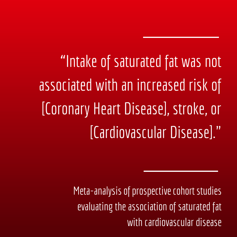 the dangers of saturated fat have finally been debunked
