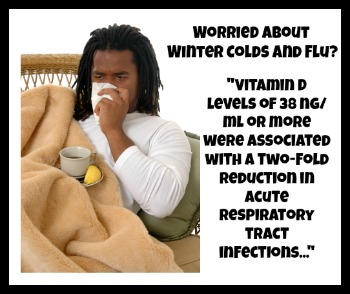 Cold and Flu Symptoms? Get your Vitamin D level above 38 ng/ml