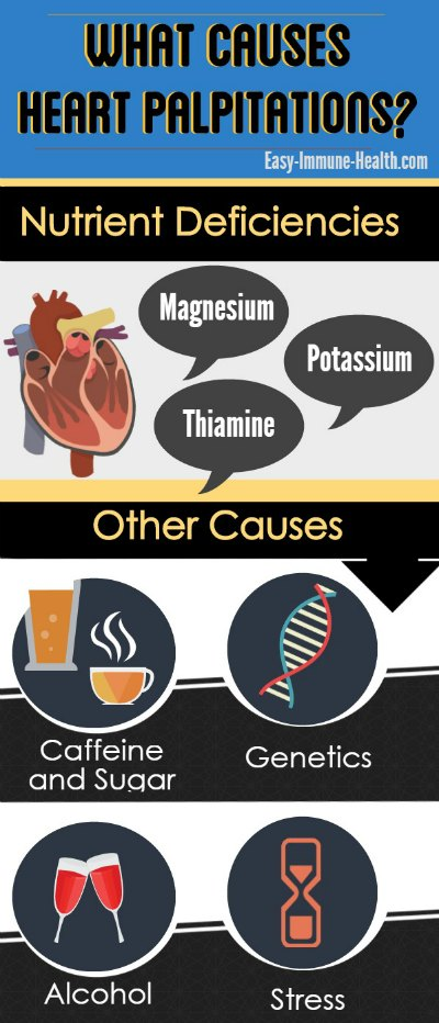 What causes heart palpitations?