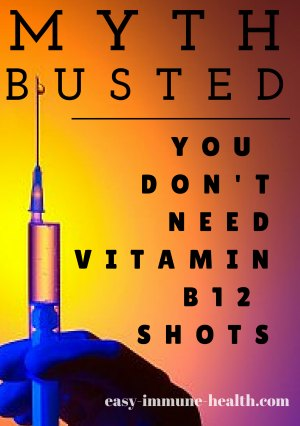 Myth Busted. Vitamin B12 Shot Problems are Not Worth the Benefit. Just take Sublingual Methylcobalamin