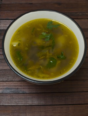 This Beautiful Bone Broth Photo<br>Shows a Delicious Beef  Bone Broth Recipe